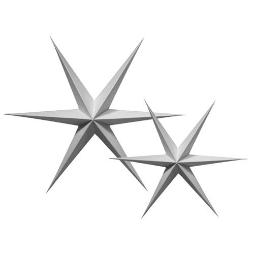 Papirstjerne Grå