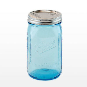 Ball® Mason Jar Wide Mouth 32 oz Blå