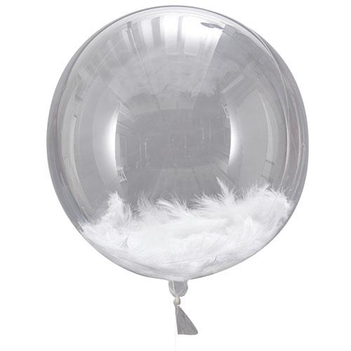 Rund ballong med fjær
