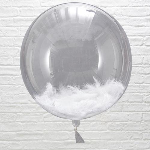BB-310 Feather Filled Orb Balloon Honeyoak