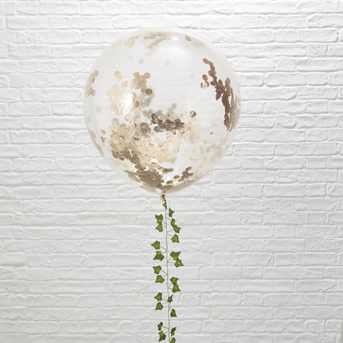 BB-311 Giant Rose Gold Confetti Balloon Honeyoak