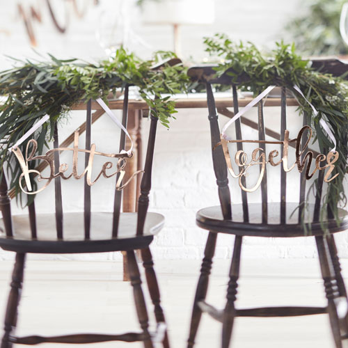 BB-313 Rose Gold Better Together Chair Signs Honeyoak