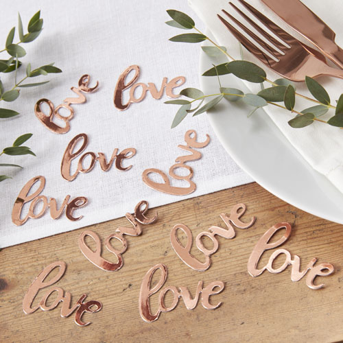 BB-319 Rose Gold Love Confetti Honeyoak