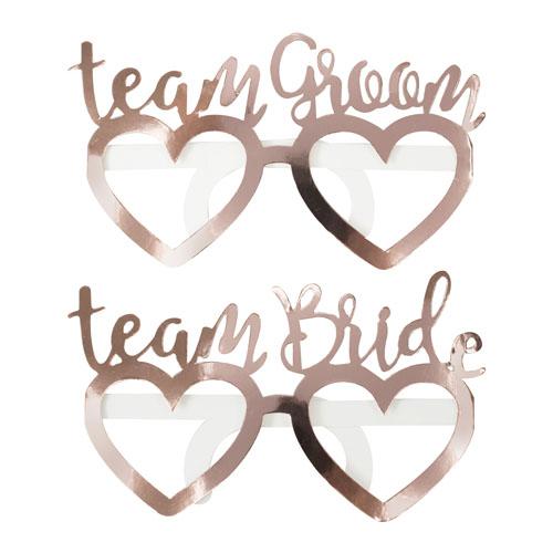 Team Bride Groom Briller