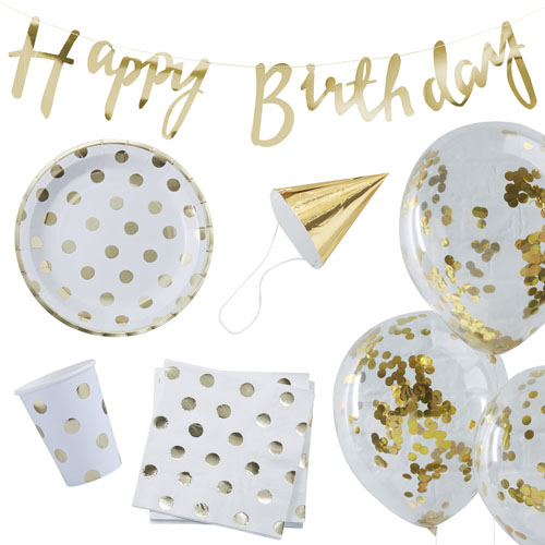 Party In A Box Gold Dots