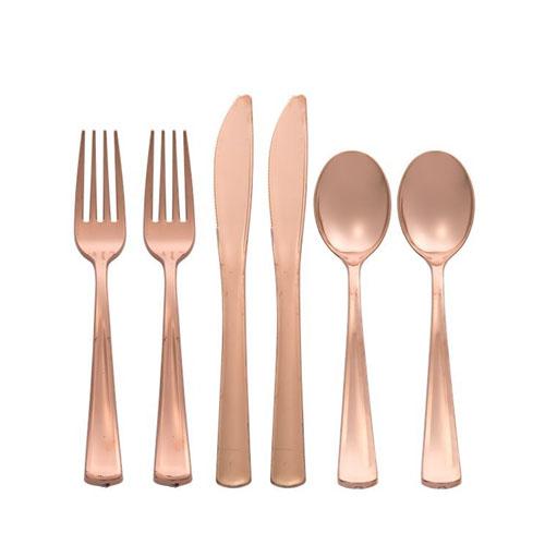 Premium Plastikkbestikk Rose Gold