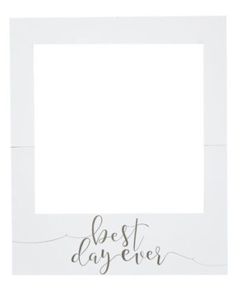 Best Day Ever Polaroid Skiltramme