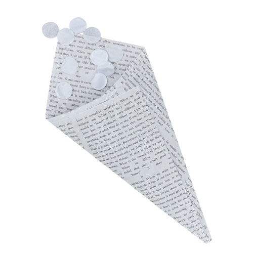 Newspaper Confetti Cones