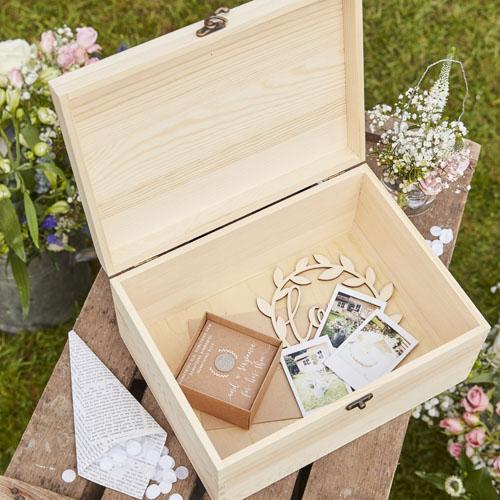 CW-278 Wooden Memory Box Honeyoak