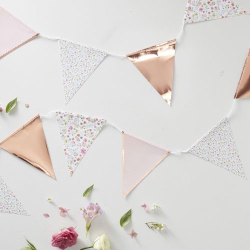 DF-804 Rose Gold & Floral Bunting Honeyoak
