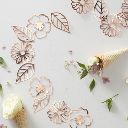 DF-807 Rose Gold Cut Out Garland Honeyoak