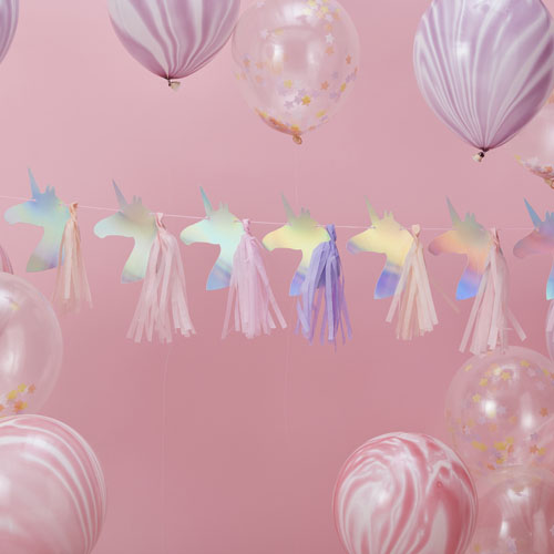 MW-106 Unicorn Tassel Garland Honeyoak