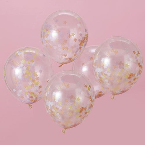 MW-112 Star Confetti Balloons Honeyoak