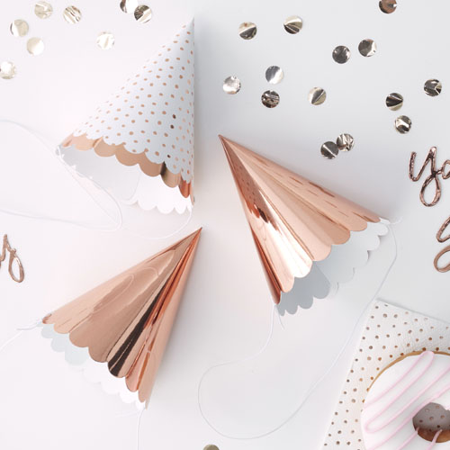 PM-330 Rose Gold Party Hats V2 Honeyoak