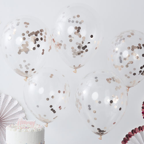 PM-336 Rose Gold Confetti Balloon Honeyoak