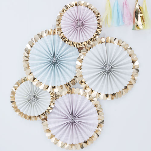 PM-406 Pastel Fan Decorations Honeyoak