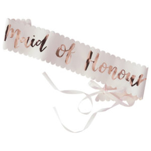 Maid of Honour Sash
