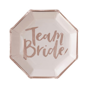 Papptallerkener Team Bride