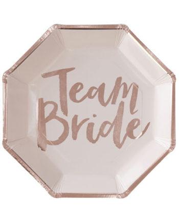 Papptallerkener Team Bride