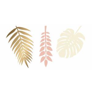 Dekorblader Gull og Peach