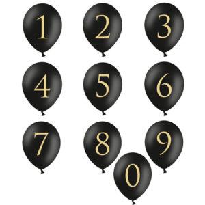 Sorte Ballonger med tall