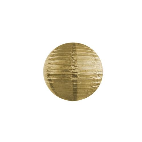 Papirlanterne Gull 20cm