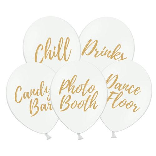 Hvite Party Ballonger