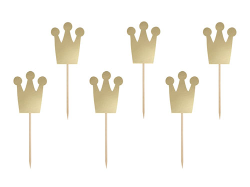 Prinsessekrone Cupcake Toppers