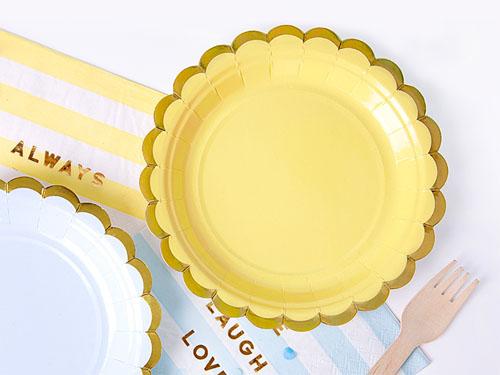 gul papptallerken barnebursdag 1 honeyoak1
