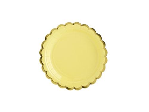 Papptallerken Dus gul og Gull