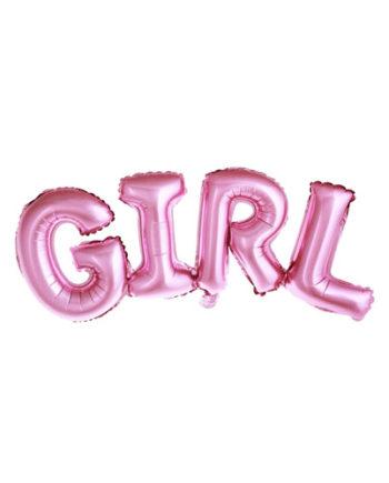 Folieballong GIRL Rosa