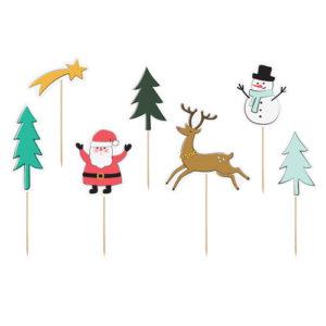 Kaketopper med julemotiv