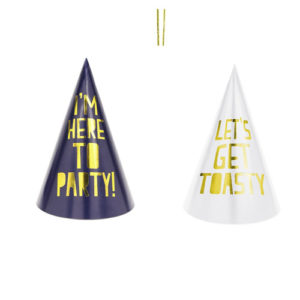 Marineblå og hvite Partyhatter