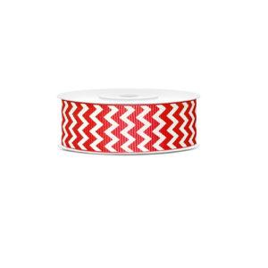 Dekorbånd med rødt chevron mønster