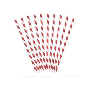 Rød og hvitstripete Papirsugerør