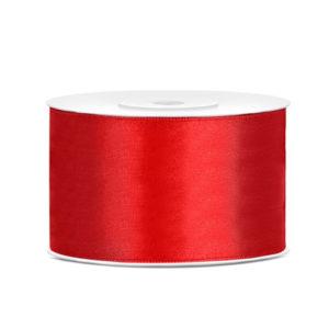 Rødt Sateng Dekorbånd 38mm