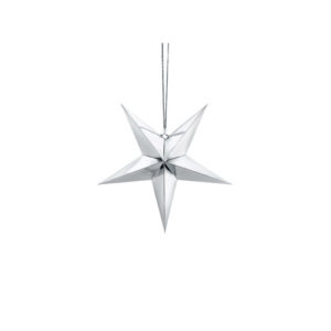 Sølvstjerne 30 cm