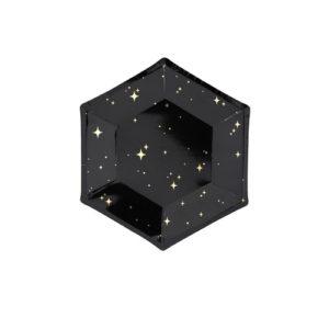 Sort tallerken med stjerner