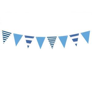 Stripete vimpelrekke blå