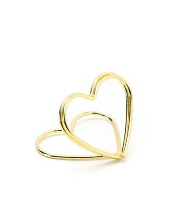 Bordkortholder Hjerte Gull