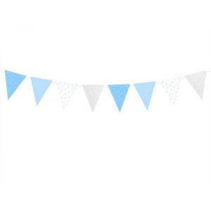 Blå Hvit Sølv Vimpelrekke