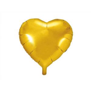 Hjerteballong Gull 45cm