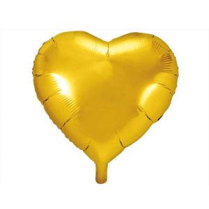 Hjerteballong Gull 61cm