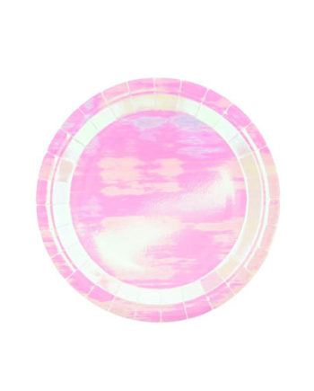 Rosa Iridescent Tallerkener 23 cm