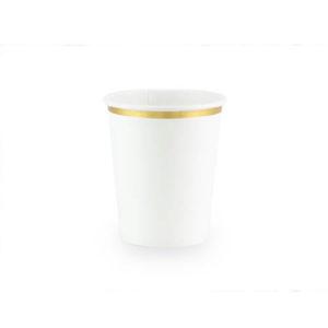 Hvite kopper med gullkant