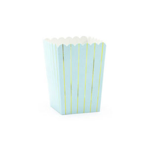 Lyseblå Popcornbeger Med Gullstriper