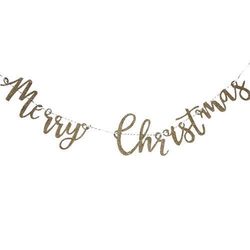Merry Christmas Glitter Vimpelrekke