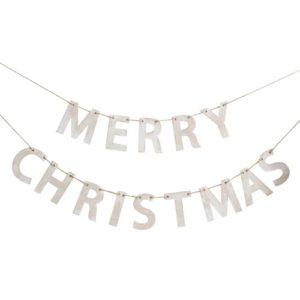 Merry Christmas Vimpelrekke i tre