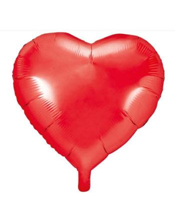 Hjerteballong Rød 61cm