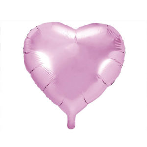 Hjerteballong Rosa 61cm